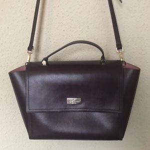 KATE SPADE Dark Purple Trapezoid Bag